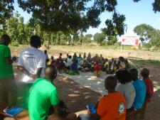 HADS staff and PoCs during community dialoque in Adologo