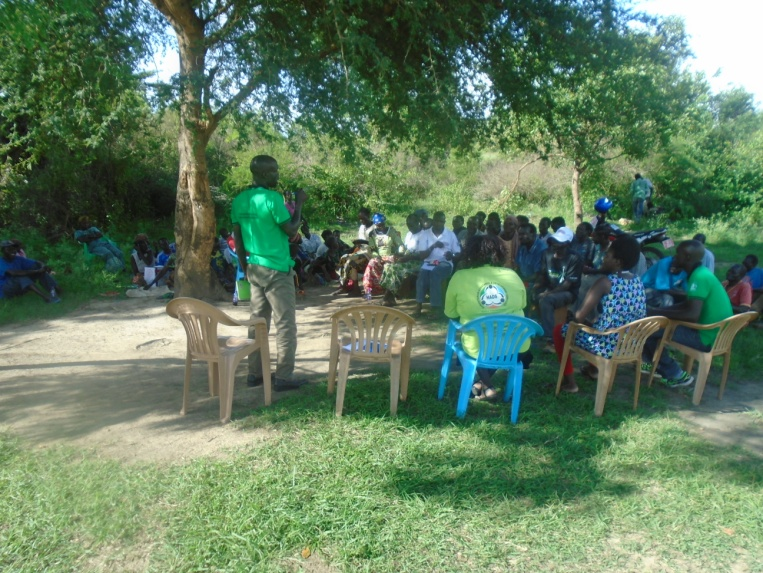 Protection Assistance chairing community dialogue on peaceful co-existence in Waju II